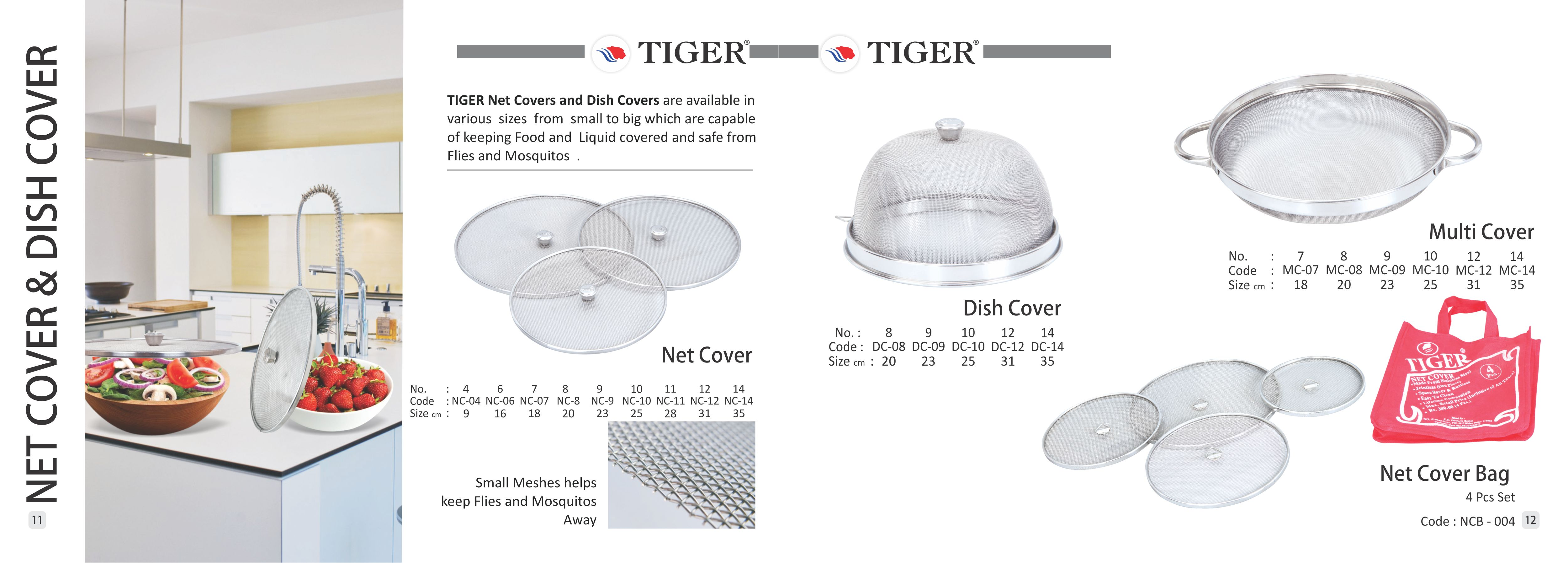 Net Cover & Dish Cover – Tiger Strainers