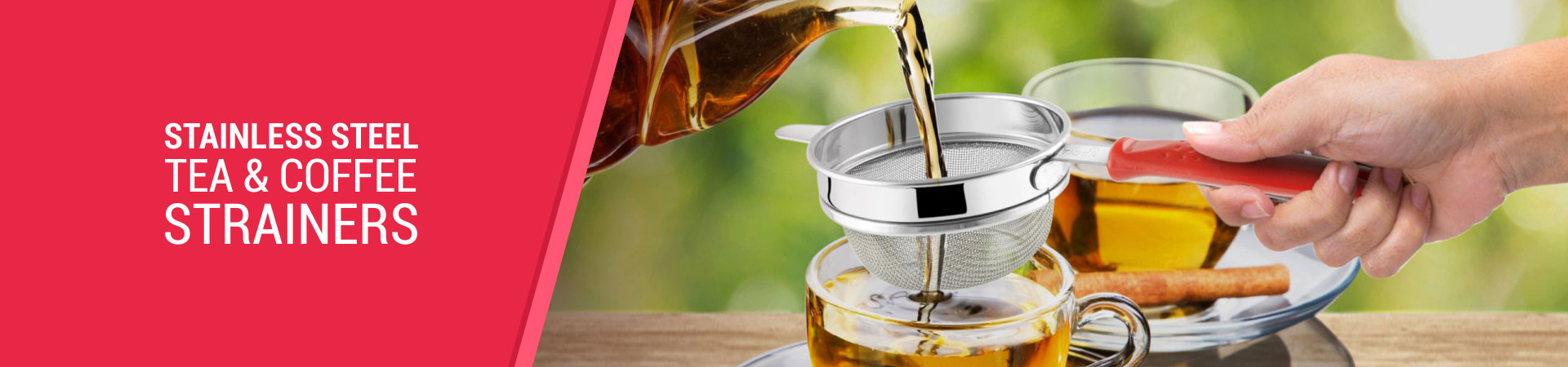 Stainless Steel Tea and Coffee Strainers